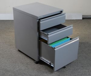 Office Storage Mobile Cabinet with Central Lock pictures & photos