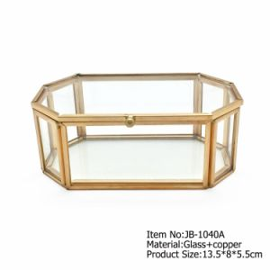 Wholesale Cheap Mirror Glass Jewelry Box Custom Logo pictures & photos
