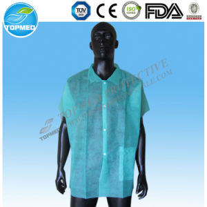 Waterproof PP+PE Lab Coat, Disposable PP+PE Lab-Gown pictures & photos