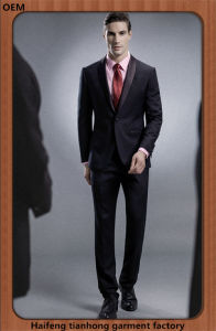 Western Style Men Best Business Wool Suit