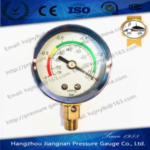 50mm 2′′ Vacuum Pressure Gauge with Universal Connection Silver Ring pictures & photos