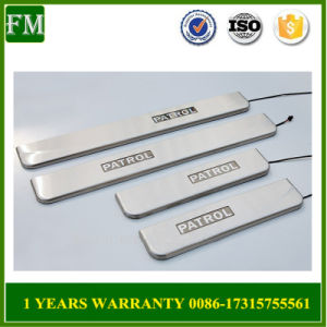 for 2014 Nissan Patrol Stainless Steel LED Door Sill pictures & photos