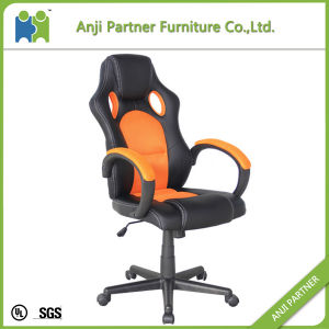 Orange Office Racing Style PU Leather Chair with Curve Armrests and Wheel Base (Agatha) pictures & photos