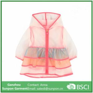 Girls Multi Colored Transparent Raincoat pictures & photos