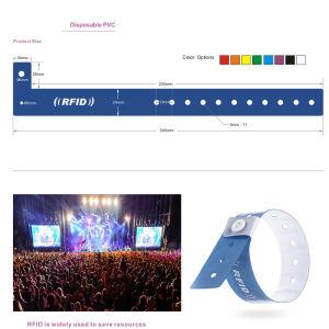 Wholesale RFID Tag 125kHz/13.56MHz Disposable Wristband Bracelet pictures & photos