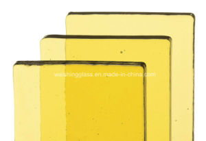3-19mm Clear/Tinted/Low-E /Laminated/Insulated/Double Glazing Yellow Tempered Glass pictures & photos