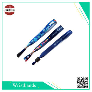 Promotion Sublimation Smooth Polyester Wristband for Gift pictures & photos