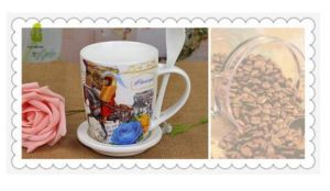 Wholesale Custom 12oz Ceramic Coffee Mugs with White Spoon pictures & photos