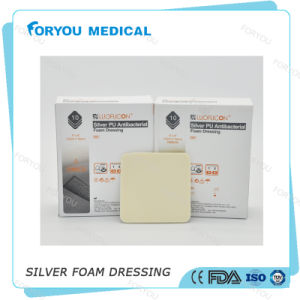 Antibacterial Wound Dressing Silver PU Foam Dressing with FDA 510k pictures & photos