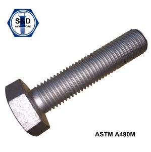 Steel Structural Heavy Hex Bolts A490m Zinc Plated/H. D. G pictures & photos