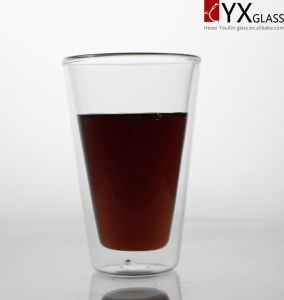 350ml Heat-Resistant Borosilicate Double Wall Glass Coffee Cup/Double Wall Glass Tea Cup/Double Layer Glass Cup pictures & photos