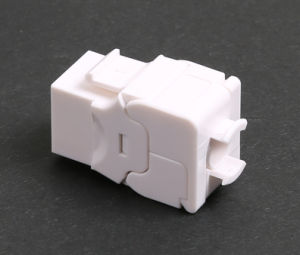 180 Degree Tooless UTP Cat. 6A Keystone Jack pictures & photos