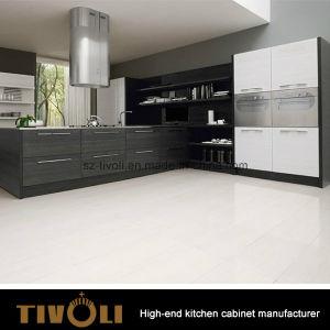 Elegant Modern Design Grey Melamine Color Kitchen Cabinet and Kitchen Furniture (AP151) pictures & photos