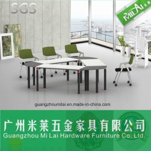 Contemporary Triangular Office Meeting Table with Metal Leg pictures & photos