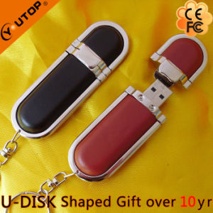 High Grade Business Gift Leather USB Flash Drive (YT-5102) pictures & photos