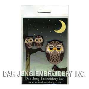 Owl Embroidered Stickers Package with Rhinestones pictures & photos