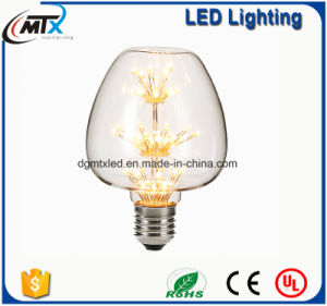 3W, Edison A19 LED Light Bulb, Fireworks Starry, Ultra warm 2200K, E26 E27 Base, 110V 220VAC, Dimmable pictures & photos