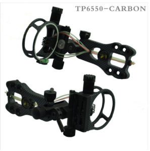 Tp6550-Carbon Adjustable Bow Sight with 5pin for Compound Bow