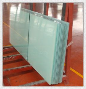 Acid Etched Toughened Glass Sandblasting Toughened Glass for Shower Room pictures & photos