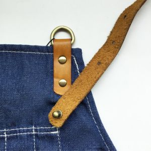 Custom Top Qaulity Blue Denim Apron for Coffee Shop Wholesale pictures & photos