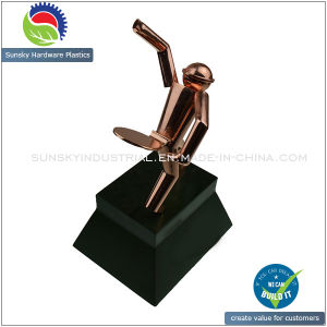 Classic Custom Golden Coating Wine Bottle Holder Die Casting pictures & photos