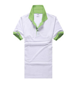 White and Green Color Combination Polo T Shirts pictures & photos