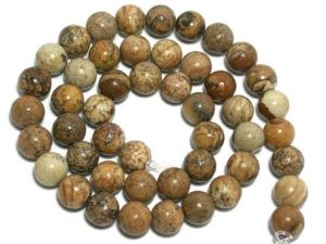"""Loose Leopard Skin Round Beads 16"""""""