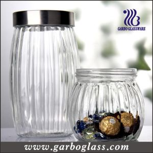 Lidded Tall Glass Bottle &Olivary Food Container (GB2102H-1) pictures & photos