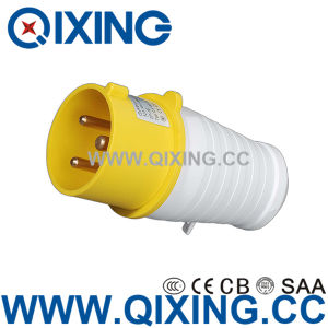 IP44 Hot Selling 16A 3p Yellow Outdoor Plug Socket pictures & photos