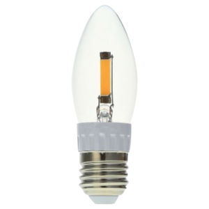 C35 1.2W 130lm Ww E27 COB LED Candle pictures & photos