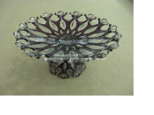 Great Design on Machine-Made Crystal Rectangular Glass Fruit Plate (P-HY01) pictures & photos