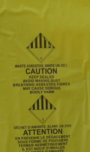 Asbestos Bag Used in Construct