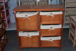 Wooden cabinet with 5 bamboo drawer & lining