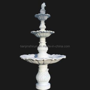 White Marble Fish Fountain, Stone Fountain (FNT114) pictures & photos