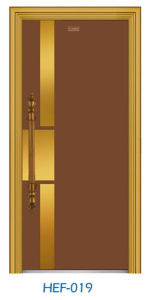 Hef-019 Fluor Carbon Painting Door Stainless Steel Door pictures & photos