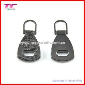 Shiny Gun Metal Color Metal Zipper Puller for Luggage