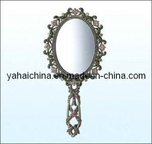 Round Classic Make-up Silver Mirror pictures & photos