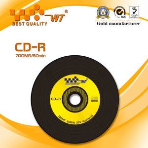 Black Blank CD-R52x700MB80min (WT black CD NO-048)