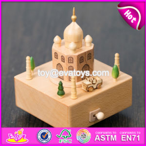 Wonderful Kids Cartoon Castle Wooden Music Box Toy W07b047 pictures & photos