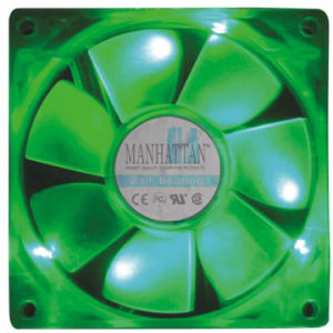 80*80*25 LED Light DC Cooling Fan (DC 8025)