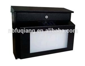 Solar Metal Mailbox with Address Number Light pictures & photos