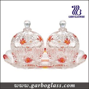 Glass Jar and Tray Set& Gift Glass/Glassware Set (TZ-GB1718MI-P2) pictures & photos