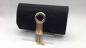 Evening Bag in Black Color, Made of Non-Woven Fabric pictures & photos