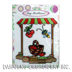 100% Fruit Vendor Embroidered Sticker Package pictures & photos