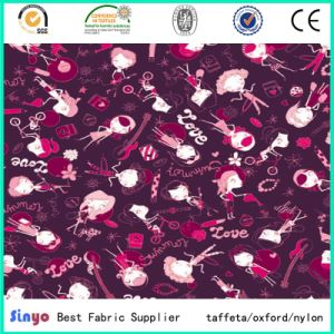 PVC Coated Polyester Printed Fabric 600d for Storage Bags pictures & photos