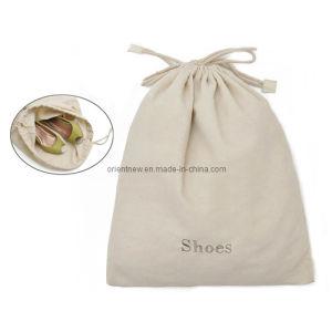 Drawstring Cotton Canvas Shoe Bag