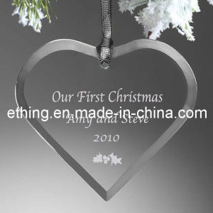 Personalized Heart Glass Christmas Tree Decoration pictures & photos