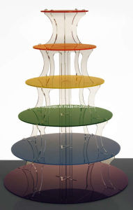 Colorful Acrylic Cake Stand (FD-A-0071)
