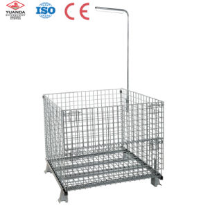 Folding Steel Storage Cage for Warehouse Storage pictures & photos