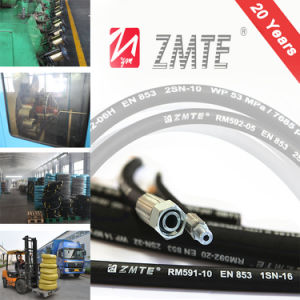 High Pressure Wire Braided Rubber Hydraulic Hose pictures & photos